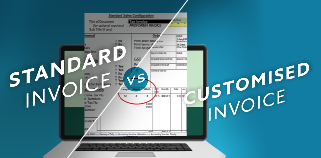 Standard Invoice VS Personalised or Customised Invoice