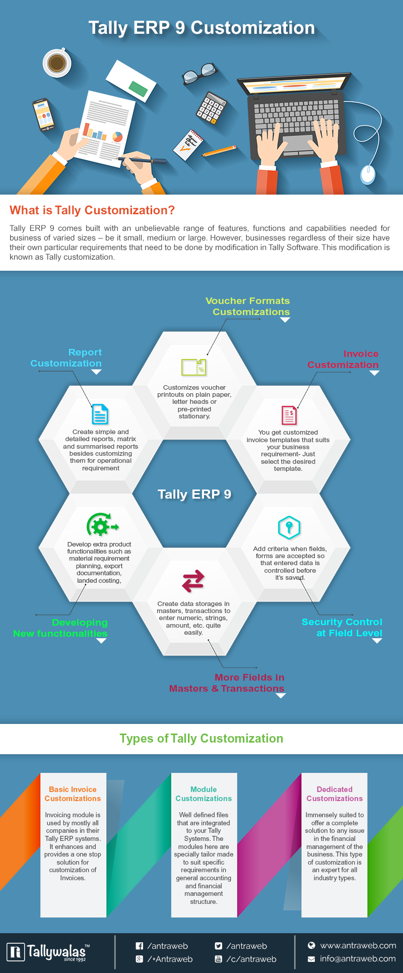 Tally ERP 9 Customization Process – Infographic