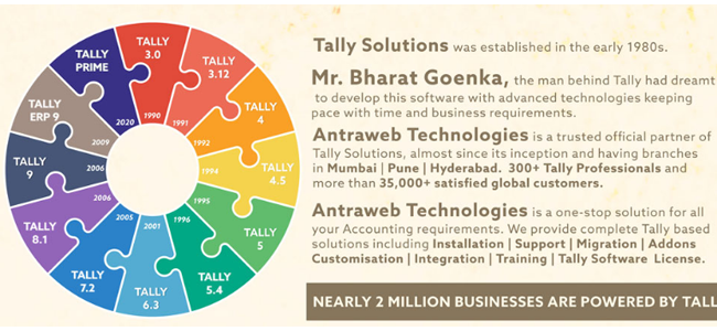 Evolution of Tally ERP 9 – Infographic